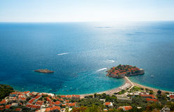 Sveti Stefan island in Budva, Montenegro Royalty Free Stock Photo