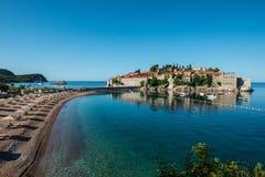 Sveti Stefan island, Budva, Montenegro Royalty Free Stock Image