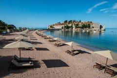 Sveti Stefan island, Budva, Montenegro Royalty Free Stock Images