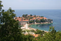 Sveti Stefan Island City Royalty Free Stock Image