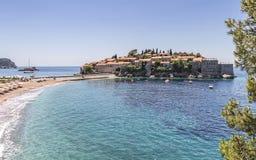 Sveti Stefan Island City Stock Images