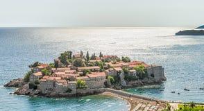 Sveti Stefan Island City Stock Image
