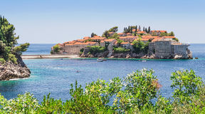 Sveti Stefan Island City Royalty Free Stock Photo