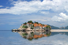 Sveti Stefan island, Montenegro Royalty Free Stock Images