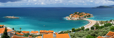 Sveti Stefan island in Montenegro Royalty Free Stock Photos