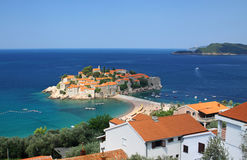 Sveti Stefan island, Montenegro Stock Photo
