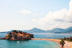 Sveti Stefan island at Montenegro Royalty Free Stock Photography