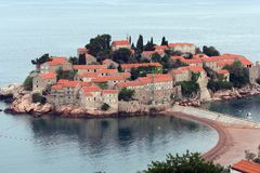 Sveti Stefan island in Montenegro Stock Photos