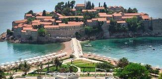 Sveti stefan. Island in montenegro Stock Photo