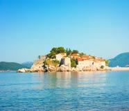 Sveti Stefan Island in Montenegro at Adriatic Sea Royalty Free Stock Photos