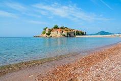 Sveti Stefan Island in Montenegro, Balkan, adriatisches Meer Lizenzfreie Stockbilder