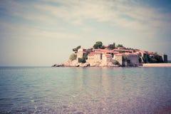 Sveti Stefan Island in Montenegro, Balkan, adriatisches Meer Lizenzfreie Stockfotografie