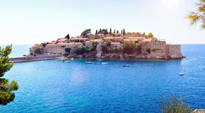 Sveti Stefan island near Budva, Montenegro Stock Photos