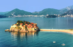 Sveti Stefan island near city of Budva, Montenegro Stock Photography