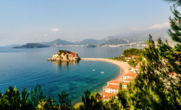Sveti Stefan island near city of Budva, Montenegro Royalty Free Stock Photo