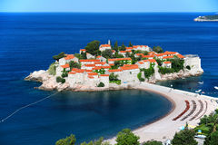 Sveti Stefan island near city of Budva, Montenegro Stock Image