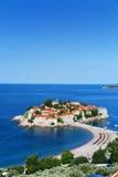 Sveti Stefan island near city of Budva, Montenegro Royalty Free Stock Photography