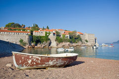 Sveti Stefan island-resort Stock Photography