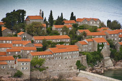 Sveti Stefan island-resort, Montenegro Stock Images