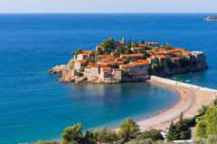 Sveti Stefan island resort in Montenegro Stock Images