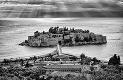 Sveti Stefan,Island resort, Montenegro Stock Photos