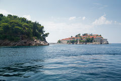 Sveti Stefan island Stock Photo