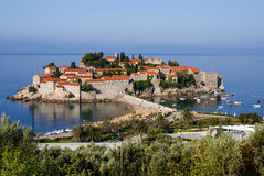 Sveti Stefan is a islet nearby Budva in Montenegro Royalty Free Stock Photos