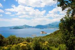 Sveti Stefan la Mer Adriatique image stock
