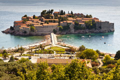 Sveti Stefan - Montenegro. Stock Photo