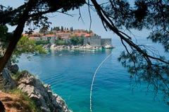 Sveti Stefan. Montenegro. Imágenes de archivo libres de regalías