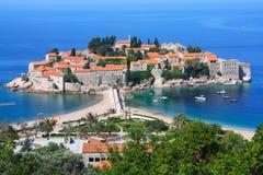 Sveti Stefan in Montenegro Royalty-vrije Stock Afbeeldingen