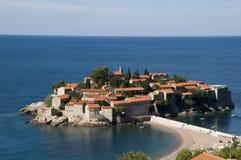 Sveti Stefan, Montenegro Royalty-vrije Stock Afbeeldingen