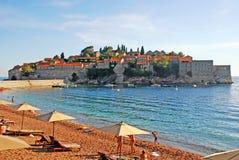 Sveti Stefan, Montenegro Fotografía de archivo libre de regalías