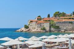 Sveti Stefan, Montenegro Fotografie Stock Libere da Diritti