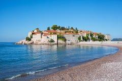 Sveti Stefan, Montenegro Balkan, adriatisches Meer, Europa stockbilder