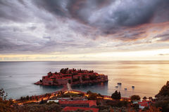 Sveti Stefan, Montenegro Balkan, adriatisches Meer, Europa stockbild