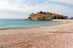 Sveti Stefan in Montenegro, Eastern Europe Stock Images