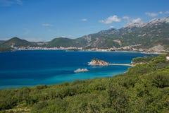 Sveti Stefan, Montenegro. Small island in the sea Stock Image