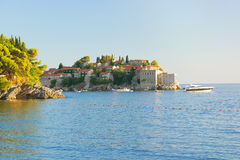 Sveti Stefan, Montenegro, view from the sea Royalty Free Stock Photography