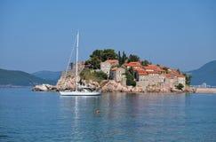 Sveti Stefan Old Town, Montenegro imagen de archivo
