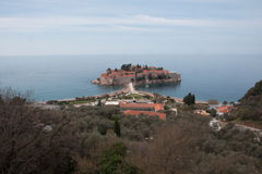 Sveti Stefan Overlook Stock Images
