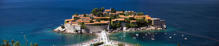 Sveti Stefan Panoramic Stock Image