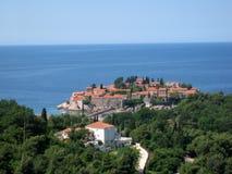 Sveti Stefan Peninsula Arkivfoton