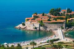 Sveti Stefan resort in Montenegro Stock Images