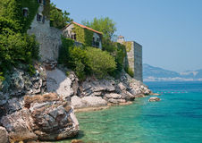 Sveti Stefan resort in Montenegro Stock Photos