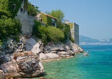 Sveti Stefan resort in Montenegro Stock Photos