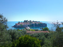 Sveti Stefan. / Saint Stefan Island in Monte Negro coast, old town Royalty Free Stock Photo