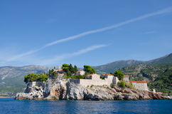 Sveti Stefan. Is a small islet and hotel resort in Montenegro, Europe Stock Image