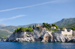 Sveti Stefan. Is a small islet and hotel resort in Montenegro, Europe Royalty Free Stock Image