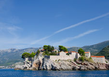 Sveti Stefan. Is a small islet and hotel resort in Montenegro, Europe Stock Photography
